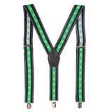 Flawless Green Coloured Suspender For Men