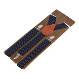 Blue Lining Black Coloured 3cm Strap Width Suspender For Men | Genuine Branded Product Elastic