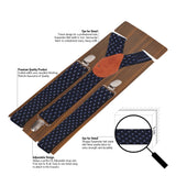 Blue Lining Black Coloured Suspender For Men