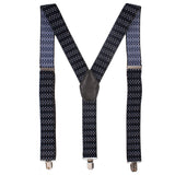 Immaculant Black Coloured Suspender For Men