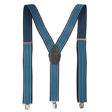 Flemish Stripes Blue Coloured Suspender For Men