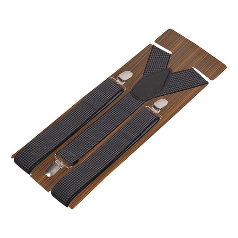 Seamless Black Coloured 3cm Strap Width Suspender For Men | Genuine Branded Product Elastic