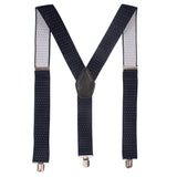 Steaming Polka Dot Blue Coloured Suspender For Men