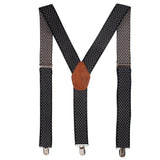 Designer Cut Black Coloured Suspender For Men