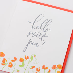 Card: Hello Sweet Pea