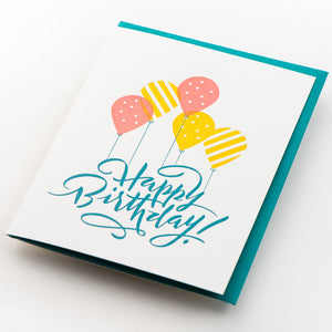 Card: Happy Birthday Calligraphy
