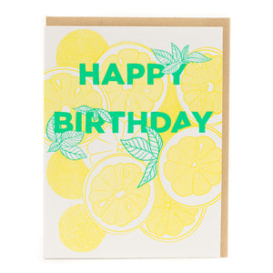 Card: Happy Birthday Lemons