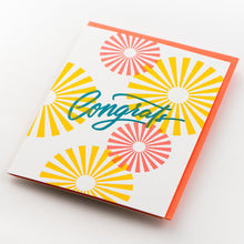 Card: Congrats Calligraphy Bursts