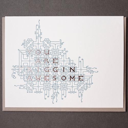 Card: Friggin Awesome Flourish