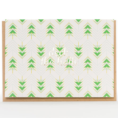 Card: Deck The Halls Retro (A1 Size)