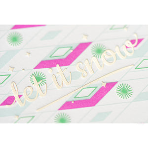 Card: Let It Snow Retro (A1 Size)