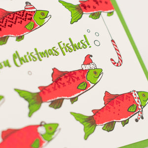 Card: Christmas Fishes