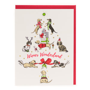 Card: Weiner Dog Christmas Tree