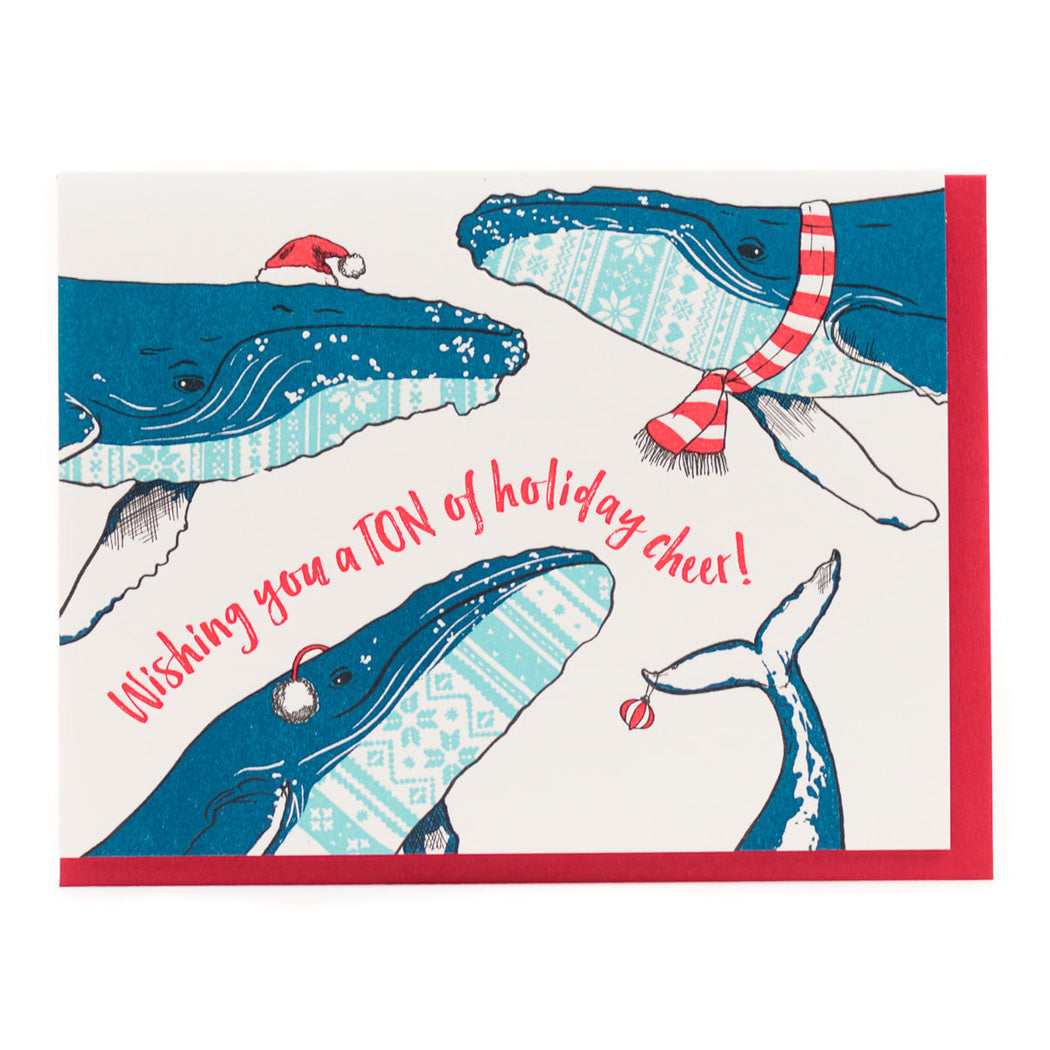 Card: Sweater Whales