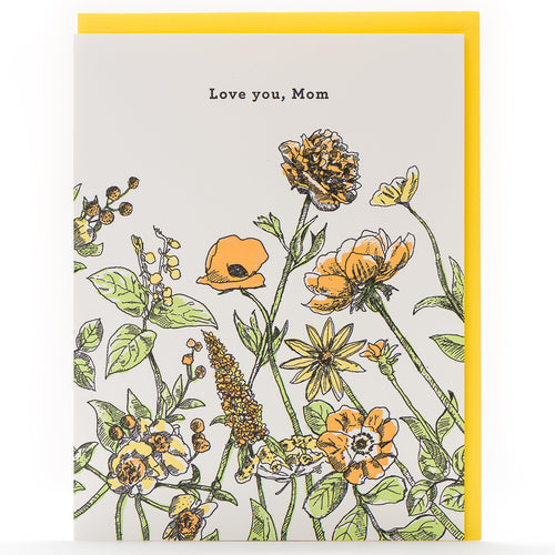 Card: Love You Mom Floral