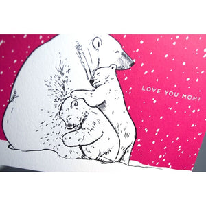 Card: Love You Mom Polar Bears