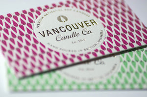 Porchlight Press Vancouver Candle Letterpress Business Card