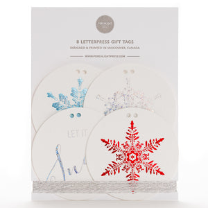 Gift Tag: Snowflakes Round (Set of 8)