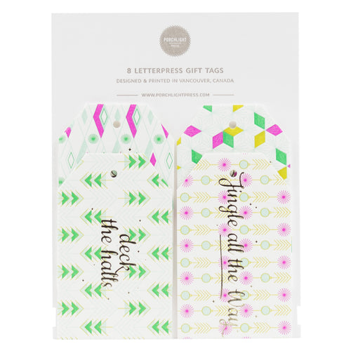 Gift Tag: Retro Holiday Gift Tag (Set of 8)