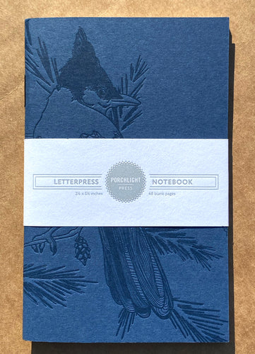 Notebook: Blue Jay Mono Birds Large