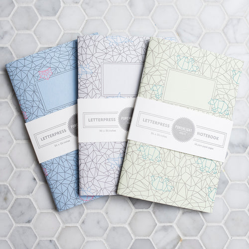 Notebook: Origami Small (Set of 3)