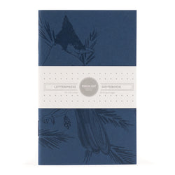 Notebook: Blue Jay Mono Birds Small