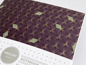 Notebook: Diamonds Foil Large