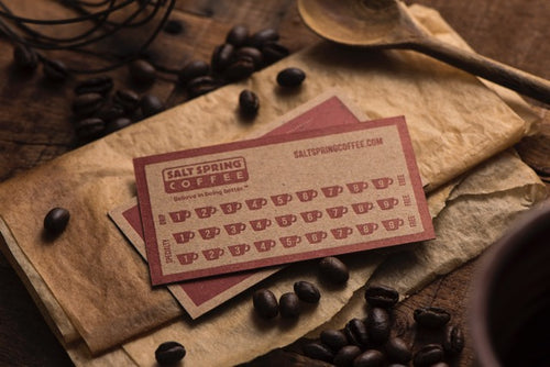 Porchlight Press Salt Spring Coffee Letterpress Business Card
