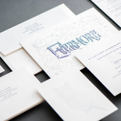 Porchlight Press Evermore Letterpress Wedding Invitation