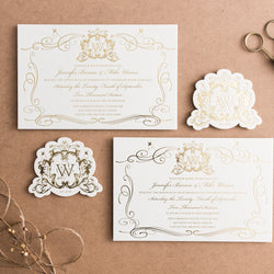 Porchlight Press Letterpress Wedding Invitation