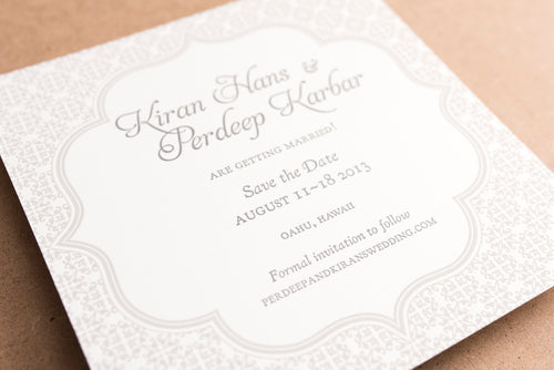 Portfolio Invitations Kiran and Perdeep