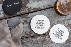 Porchlight Press Fairmont Letterpress Coaster