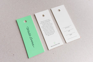 Porchlight Press Wallis Evera Letterpress Tag