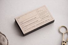 Porchlight Press Union Wood Letterpress Business Card