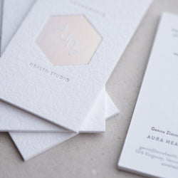 Porchlight Press Aura Letterpress Business Card