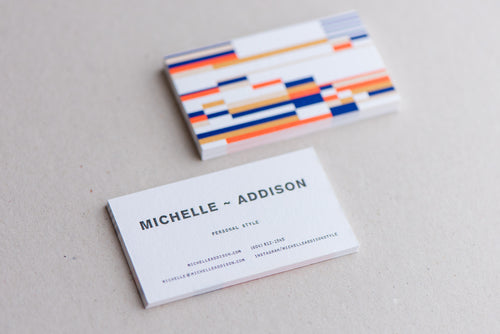 Porchlight Press Michelle Addison Letterpress Business Card