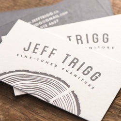 Porchlight Press Jeff Trigg Letterpress Business Card