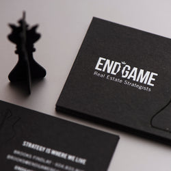 Porchlight Press End Game Letterpress Business Card