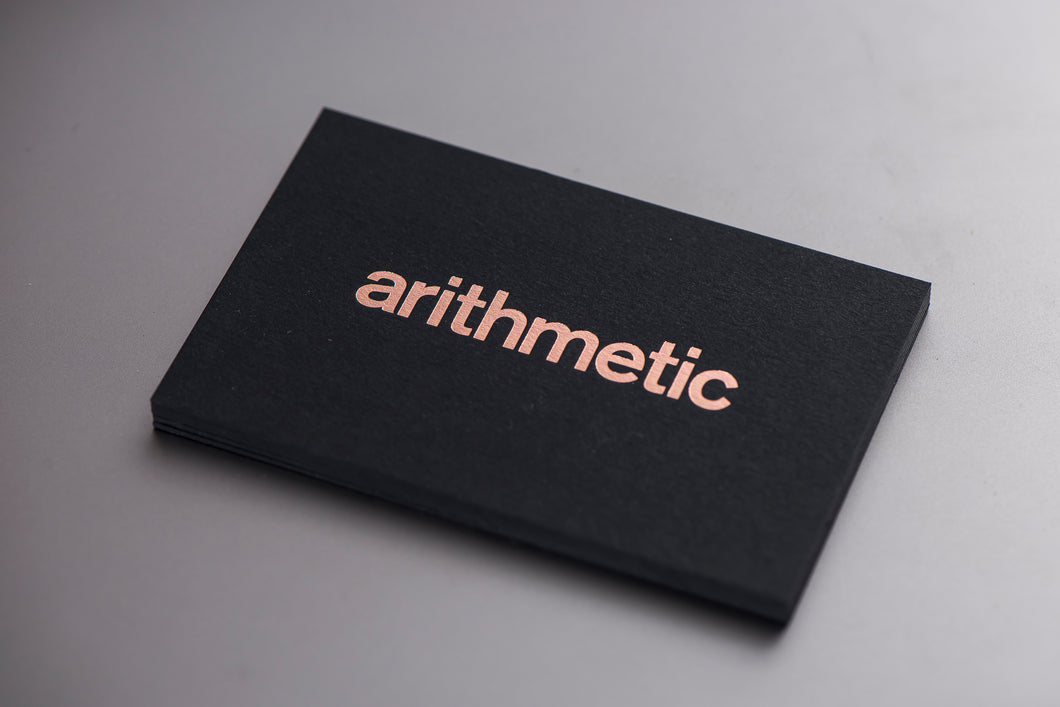 Porchlight Press Arithemtic Letterpress Business Card