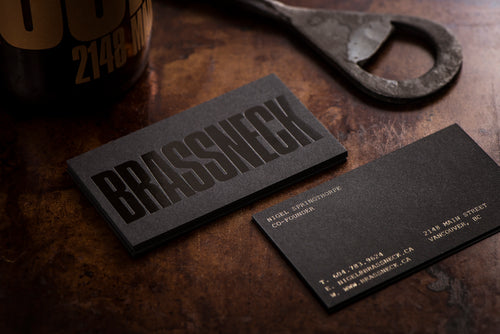 Porchlight Press Brassneck Letterpress Business Card