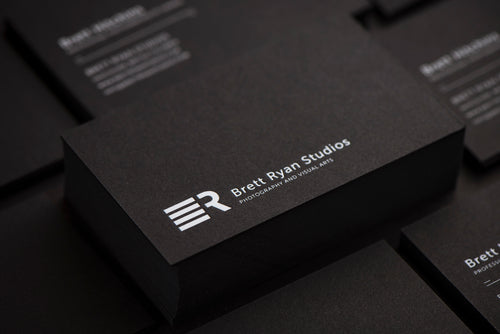 Porchlight Press Brett Ryan Studios Letterpress Business Card