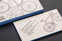 Porchlight Press Dave Somerford Letterpress Business Card