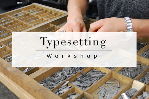 Typesetting workshop August 10-11th