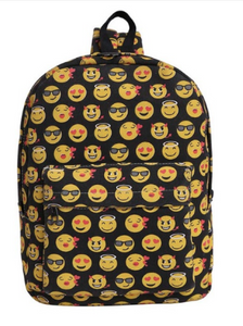 Black Emoji Backpack - Clout Clan