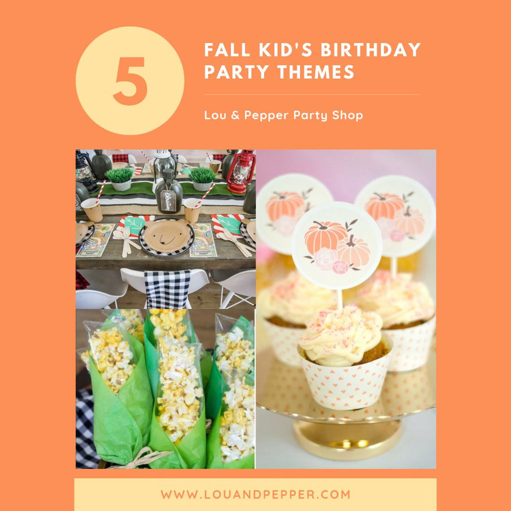 Top 5 Kid's Birthday Party Themes for Fall