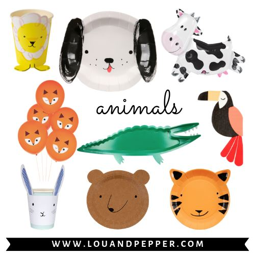 Animal Party Supplies