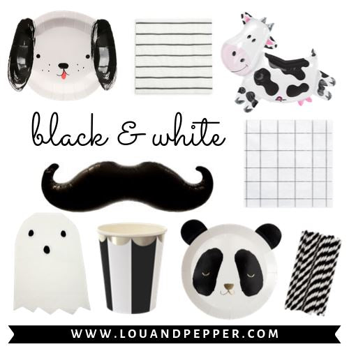 Black & White Party Supplies
