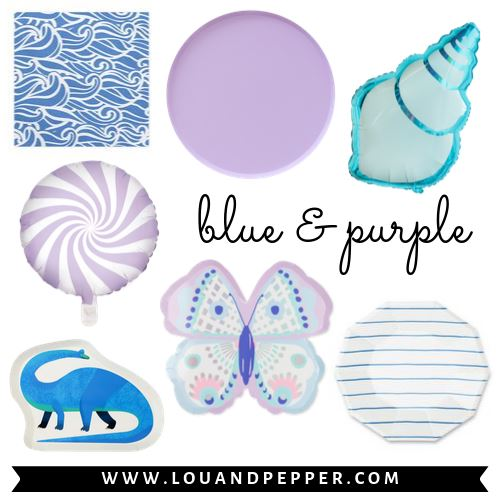 Blue & Purple Party Supplies