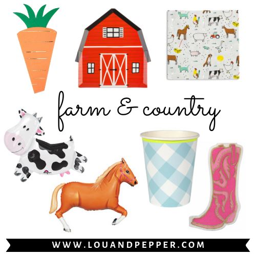 Farm & Country Party Supplies