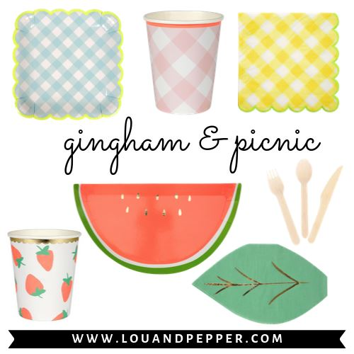 Gingham & Picnic Party Supplies